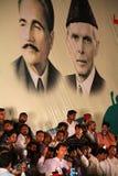 imran khan anförande royaltyfria bilder