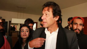 Imran Khan Interview stock video