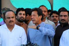 Imran Khan konferencja prasowa zdjęcie stock