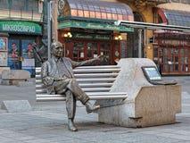 Imre Kalman-standbeeld in Boedapest, Hongarije Stock Fotografie
