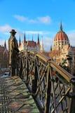 Imre Nagy statue in Budapest Stock Image