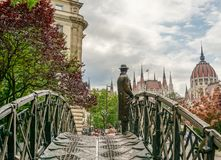 Imre Nagy statue in front of Parliament Royalty Free Stock Photography