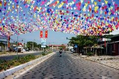 Imrpression con la decoración para celebrar el día de fiesta de Vietnam Fotos de archivo