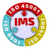 Ims ISO联合管理系统 以难题的形式校验标志 皇族释放例证