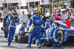IMSA : Étalage de courses d'automobiles de sports de patron de tequila du 18 avril Images libres de droits