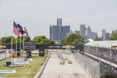 IMSA :底特律6月04日薛佛列佳丽小岛格兰披治 库存图片