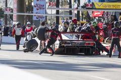 IMSA: Escaparate de las carreras de coches de los deportes el patrón del Tequila del 18 de abril Foto de archivo libre de regalías