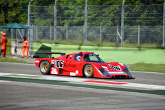 1988 IMSA Lights Championship Tiga Cosworth. Monza circuit was the theatre of the Monza-Historic event by Peter Auto. The Howden Ganley`s Tiga GC288 was built to stock image