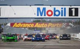 IMSA: Am 17. März Mobil 1 12 Stunden von Sebring Lizenzfreie Stockfotos