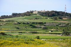 Imtarfa-Landschaft, Malta Lizenzfreie Stockfotos
