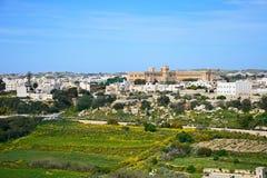 Imtarfa-Stadt und Landschaft, Malta Lizenzfreies Stockfoto