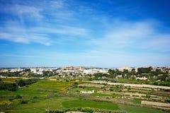 Imtarfa-Stadt und Landschaft, Malta Stockfoto