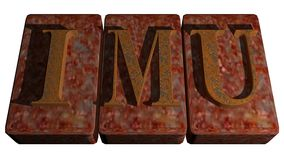 IMU Rusty stamp Stock Images