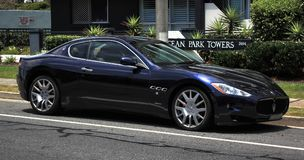 Inédito clásico italiano, Maserati foto de archivo libre de regalías