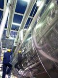 inżynierów rurociągu. Zdjęcie Stock
