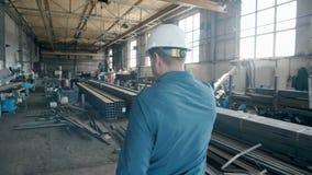 Inżynier na manufakturze z pastylką zbiory