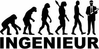 Inżynier niemiec ewolucja ilustracja wektor