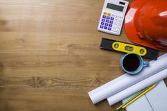 Inżyniera biurko i projektów pomysłów pojęcie Zdjęcie Royalty Free