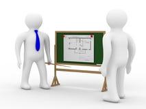 inżyniera deskowy plan ilustracja wektor