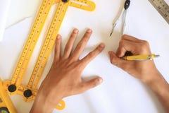 Inżynieria projektuje wierzchołka kąta kąta biuro obrazy stock