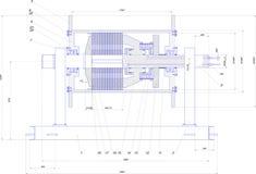 Inżynieria rysunek przemysłowy wyposażenie Zdjęcia Royalty Free