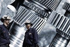 inżyniery z titanium, stali cogs i przekładnie i fotografia royalty free