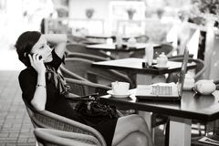 Free In A Caffe Stock Photography - 10569552