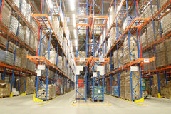 In A Warehouse Royalty Free Stock Photography