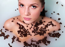 Free In Bath With Coffee Royalty Free Stock Images - 13852939