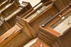 In Line Clocks Stock Image