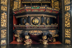 Free In Nineteenth Century, Chaozhou Used Precious Wood Carvings Of Art To Worship Ancestors And Mythological Figures Stock Images - 91657784
