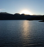In Setting Sun Lake Royalty Free Stock Photo