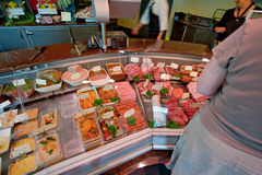In Small Butcher Shop In France Royalty Free Stock Photos