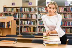 In The Library Royalty Free Stock Photo