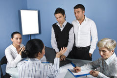 Free In The Middle Of Business Meeting Stock Photography - 10547492