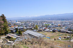 Ina Basin and the Southern Japan Alps Stock Images