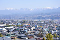 Ina Basin and the Southern Japan Alps Royalty Free Stock Photo