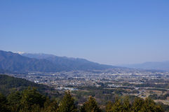 Ina Basin and the Southern Japan Alps Stock Photography