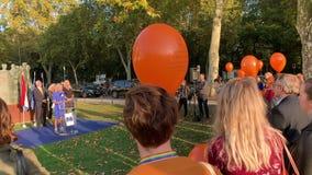 Ina Hut, Directeur van de toespraak van COMESA Nederland stock video