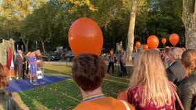 Ina Hut, Directeur van de toespraak van COMESA Nederland stock videobeelden