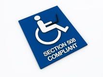 Inabilità di accessibilità della parte 508 Fotografia Stock Libera da Diritti