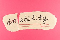 Inability to ability Royalty Free Stock Photo