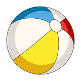 Inable multicolored ball.Summer rest single icon in cartoon style rater,bitmap symbol stock illustration. Stock Photography