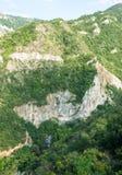 Inaccessible cliffs near Asenova Fortress Royalty Free Stock Photos