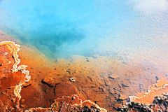 Inactive geyser hole with limescale royalty free stock photos
