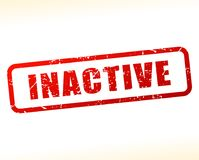 Inactive text buffered Royalty Free Stock Photography