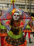 Inagural parade IberoAmerican theater  Festival of Bogota Colombia March  2016. Royalty Free Stock Photo