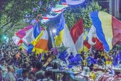 Inagural ståtar av karneval i Montevideo Uruguay Arkivbilder