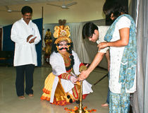 Inaguration of Yakshagana,folk dance of Karnataka. Stock Photo