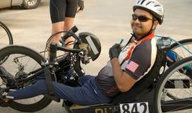 inaktiverad cyklist Royaltyfria Foton